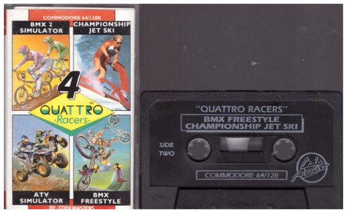 4 Quattro Racers for Commodore 64 from Codemasters (1449)