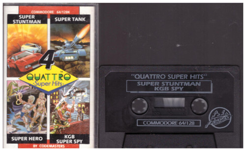 4 Quattro Super Hits for Commodore 64 from Codemasters (1347)