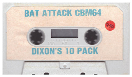 Bat Attack Tape Only for Commodore 64 from Alligata