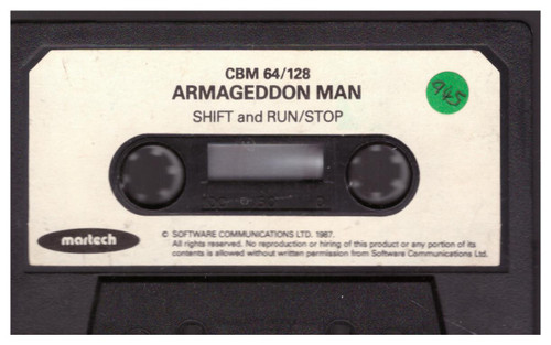 The Armageddon Man Tape Only for Commodore 64 by Martech