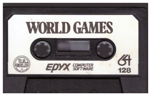 World Games Tape Only for Commodore 64 Epyx/U.S. Gold