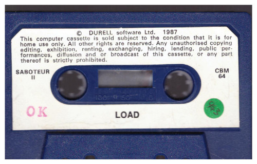 Saboteur II Tape Only for Commodore 64 from Durell
