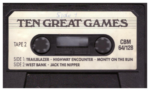 10 Great Games Tape 2 Tape Only for Commodore 64 from Gremlin