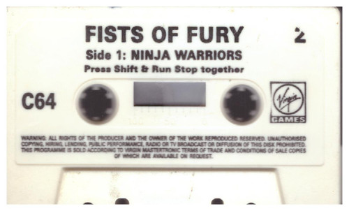 Fists Of Fury Edition 2 Tape 2 Only for Commodore 64 from Virgin Games