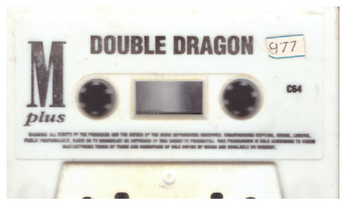 Double Dragon Tape Only for Commodore 64 from Mastertronic Plus