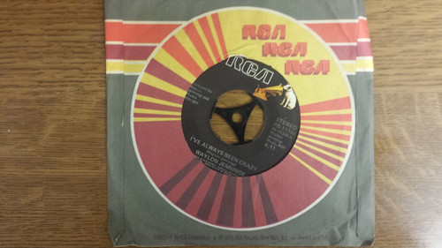 "7"" 45RPM I've Always Been Crazy/I Never Said It Would Be Easy by Waylon Jennings from RCA"