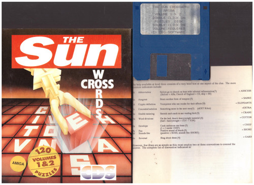 The Sun Crosswords Volumes 1 & 2 for Commodore Amiga from CDS Software