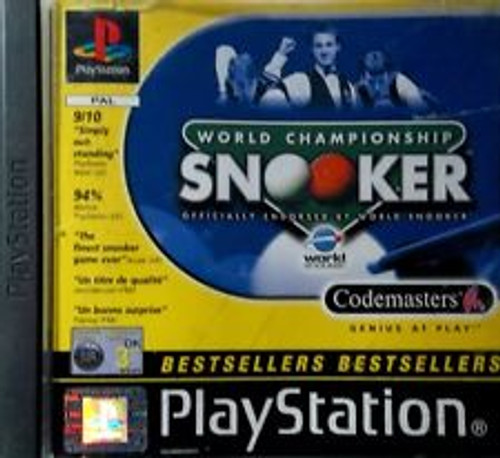 World Championship Snooker for Sony Playstation 1/PSX from CodeMasters