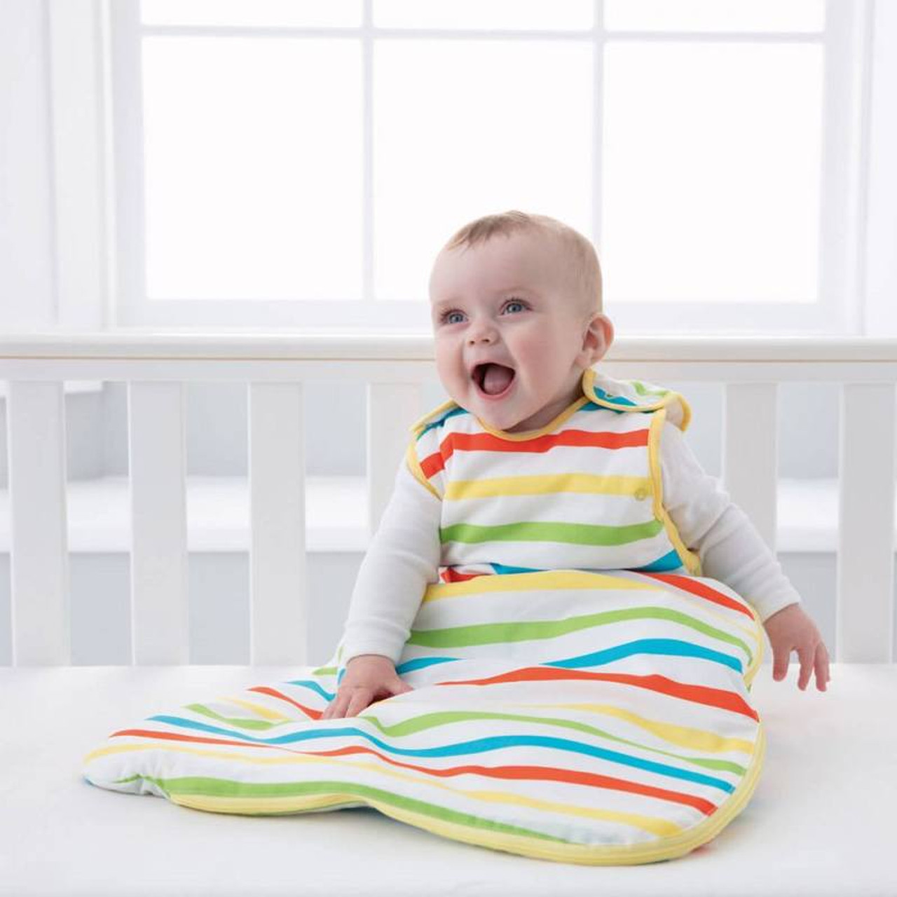 2.5 Tog Rainbow Stripe Wash /& Wear Twin Pack Grobag Baby Sleeping Bag 0-6m