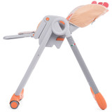 Chicco Polly 2 Start Highchair - Fancy Chicken reclined