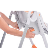 Chicco Polly 2 Start Highchair - Fancy Chicken adjust