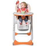 Chicco Polly 2 Start Highchair - Fancy Chicken with baby