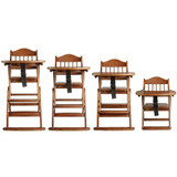 Safetots Folding Wooden High Chair sizes