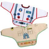 Dreambaby Bib / Smocks With Sleeves - Astronaut & Zookeeper 2Pk