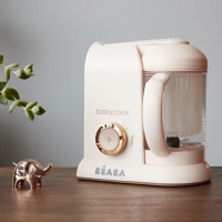 Beaba Babycook Solo Rose Gold Limited Edition on table