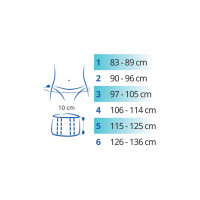 Ortel-P Pelvic Maternity Support sizes