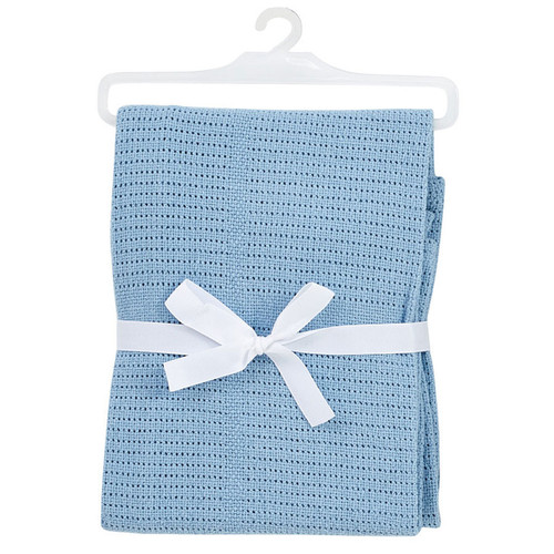 BabyDan Cotton Cellular Blanket - Blue