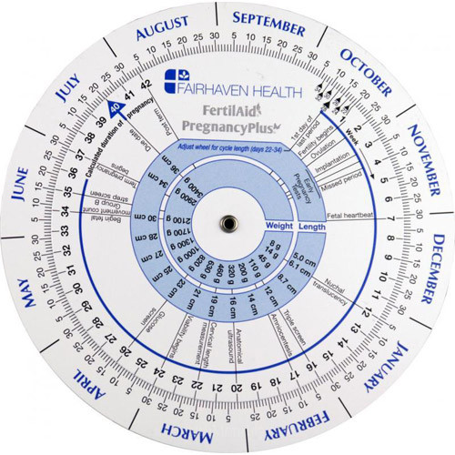 Pregnancy & Ovulation Calendar Wheel