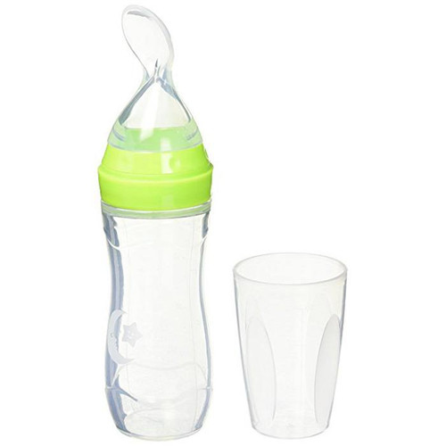 Haakaa Silicone Baby Food Tube and Feeding Spoon Green