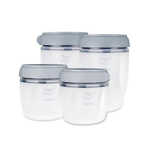 Haakaa Silicone Breast Milk Storage Set 160Ml X2 + 250Ml X2 4P