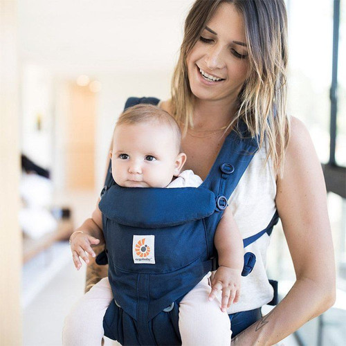 Ergobaby Omni 360 Cool Air Mesh From Newborn - Midnight Blue live