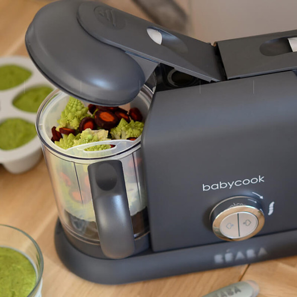 Beaba Babycook Duo Baby Food Steamer Blender - Dark Grey Live