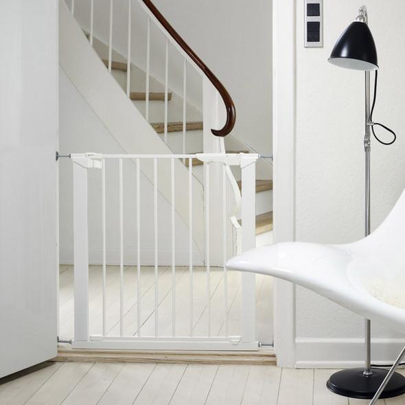 Babydan Premier True Pressure Fit Safety Gate - White (73.5 - 79.6cm; Max 119.3) BabyDan