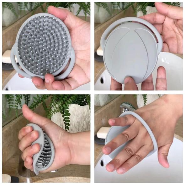 Haakaa Silicone Shampoo Brush - Grey Demo