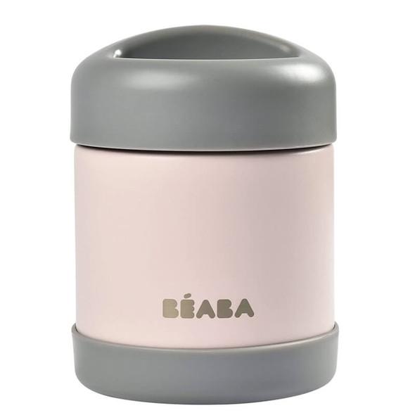 Beaba Stainless steel storage pot 300ml - Dark Mist/Light Pink