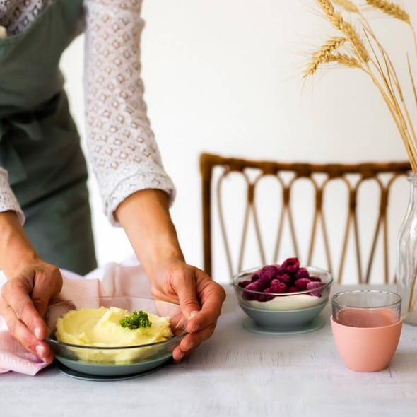 Beaba Glass Meal Set - Eucalyptus Live