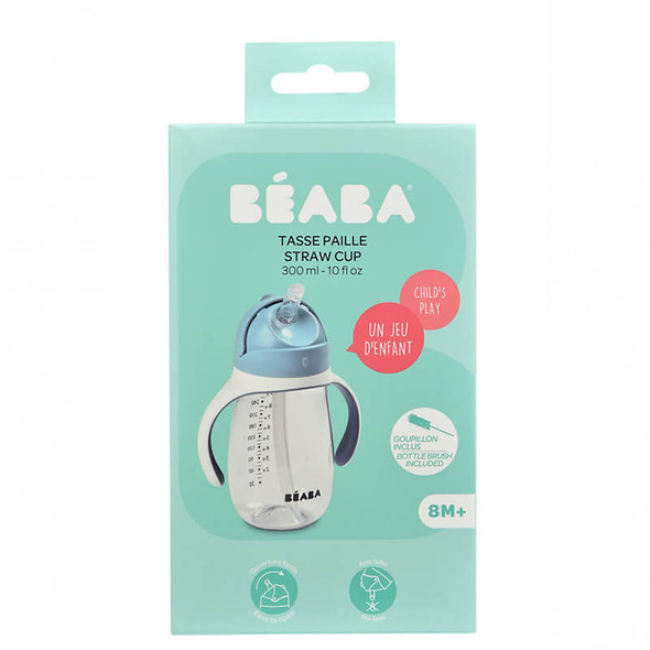Beaba Straw Cup 300ml - Windy Blue Box