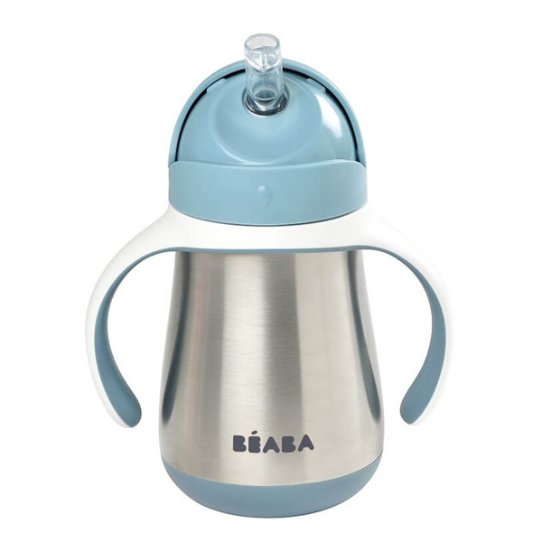 Beaba Stainless Steel Straw Cup 250ml - Windy Blue
