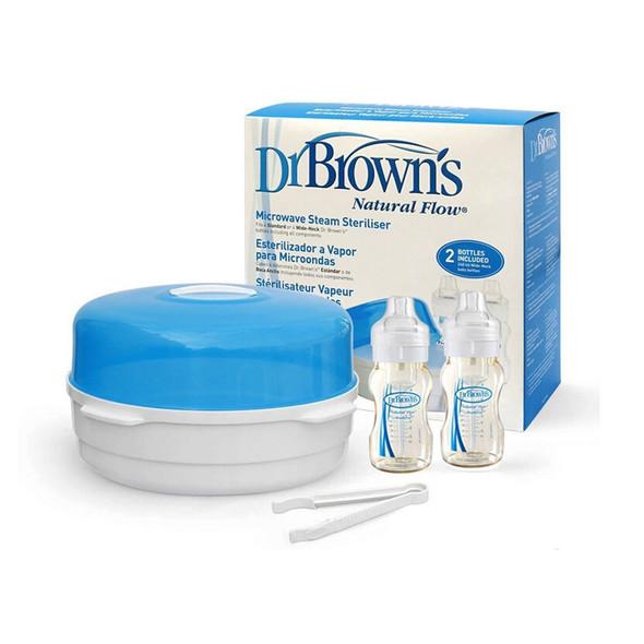 Dr Brown's Microwave Steriliser & 2 X 240ml Bottles