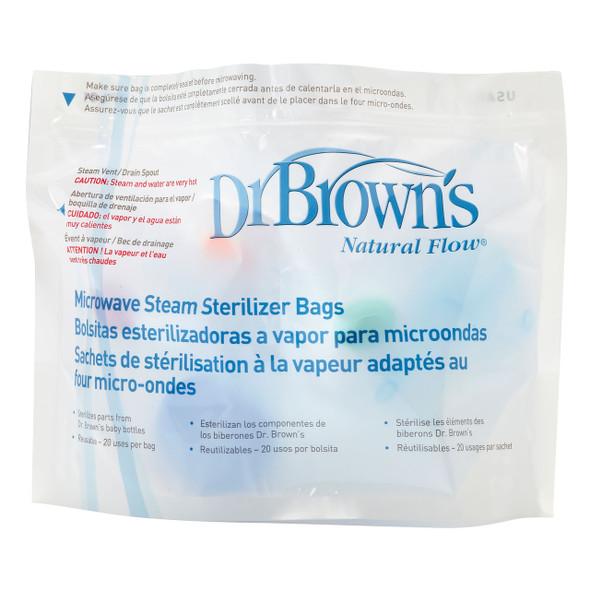 Dr Brown's Microwave Steriliser Bags 5Pk PregnancyandBaby.ie