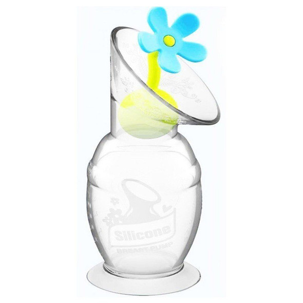 Haakaa Silicone Breast Pump Flower Stopper - Blue example