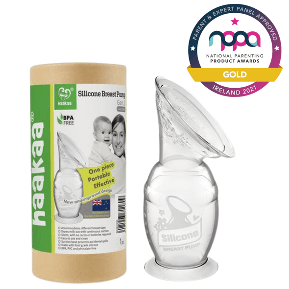 Haakaa Silicone Breast Pump with Suction Base 150ml Award