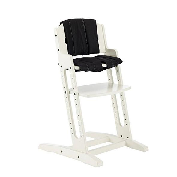 Babydan Danchair Comfort Cushion - Black on white chair