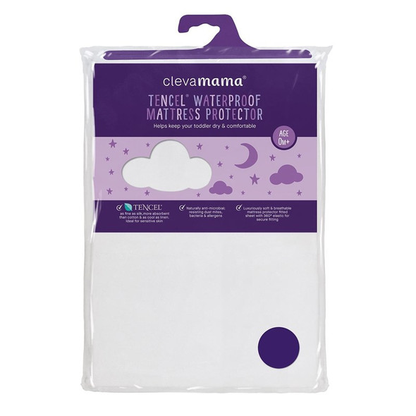ClevaMama TencelⓇ Waterproof Mattress Protector