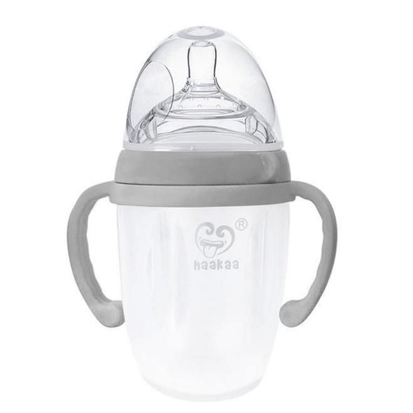 Haakaa Silicone Baby Bottle 160/250ml Grey 250