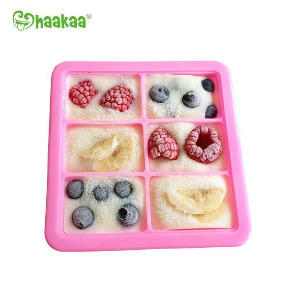 Haakaa Silicone Baby Food Freezer Tray 6X Cup - Red