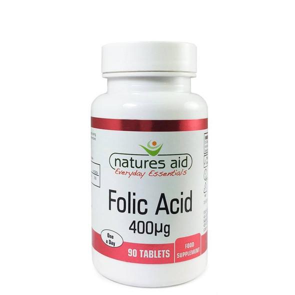Natures Aid Folic Acid 400mcg 90 Tabs