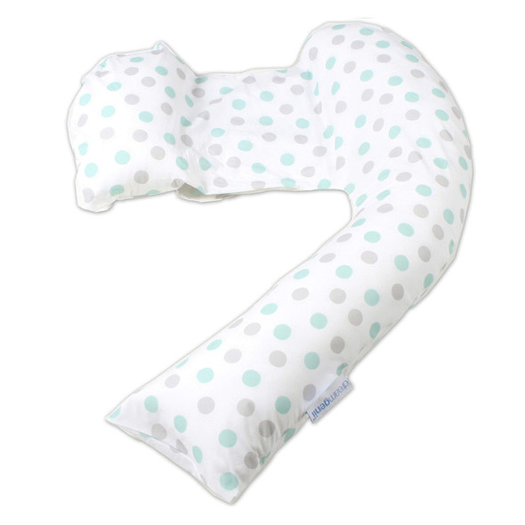 Dreamgenii Pregnancy Support & Feeding Pillow - Geo Grey Aqua pillow