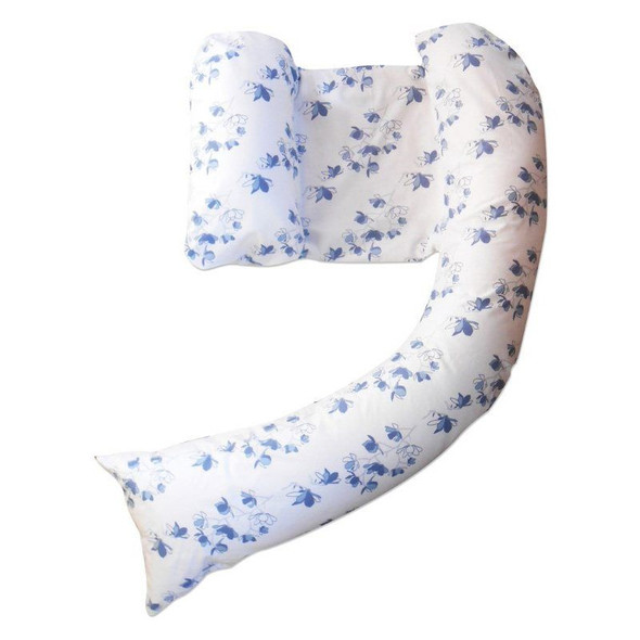 Dreamgenii Pregnancy Support & Feeding Pillow Cover - Blossom Blue