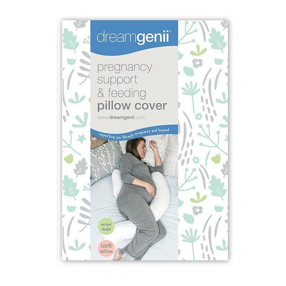 Dreamgenii Pregnancy Support & Feeding Pillow Cover - Grey Green box