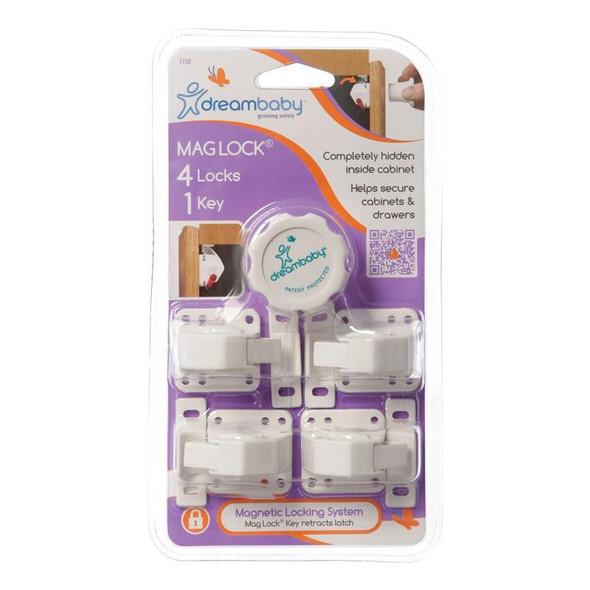 Dreambaby Magnetic Lock 4 Locks 1 Key