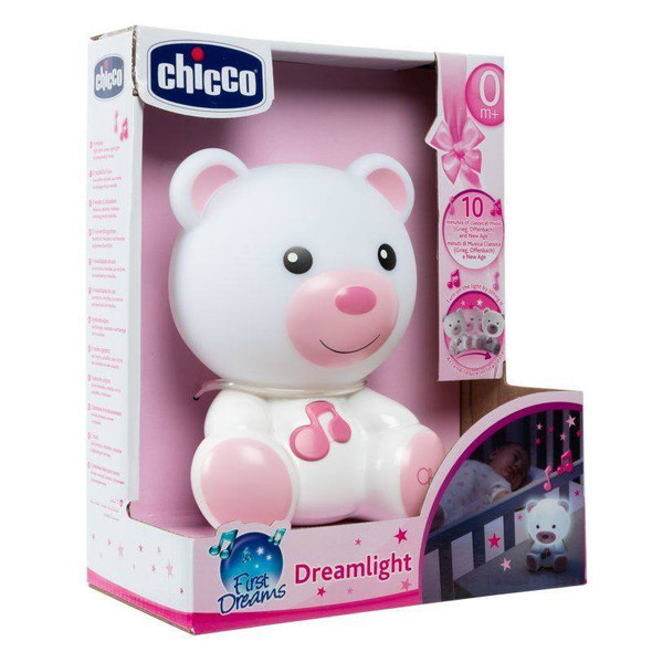 Chicco Dream Light Bear - Pink box
