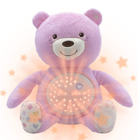 Chicco First Dreams Baby Bear Pink lights