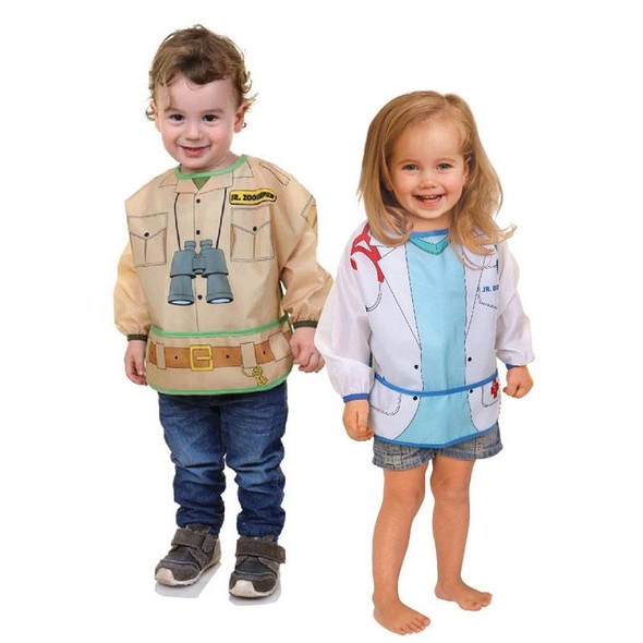 Dreambaby Bib / Smocks With Sleeves - Zookeeper & Doctor 2Pk live