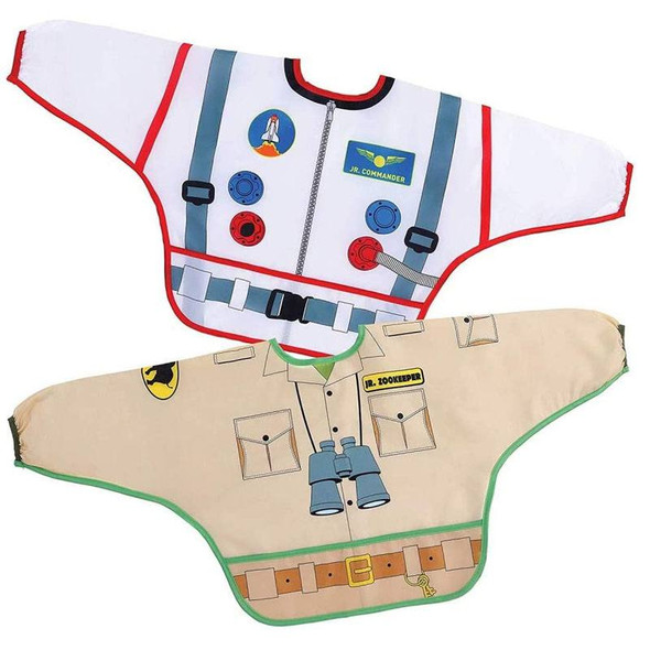 Dreambaby Bib / Smocks With Sleeves - Astronaut & Zookeeper 2Pk