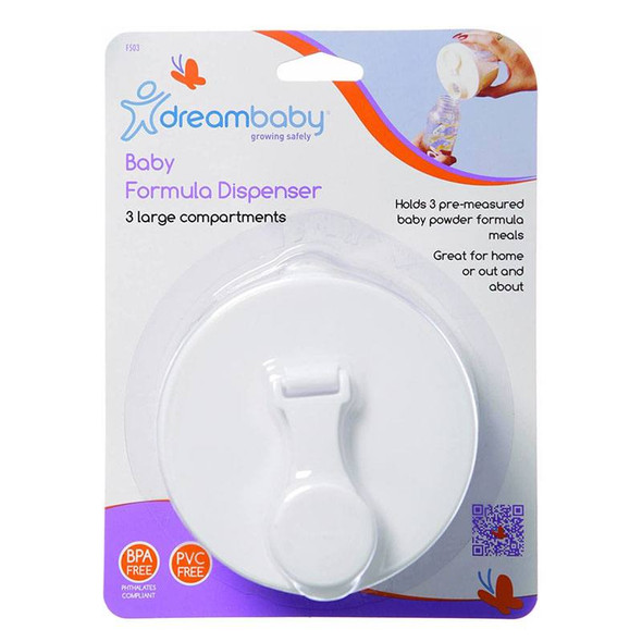 Dreambaby Baby Powder Formula Dispenser - 3 Storage Compartment
